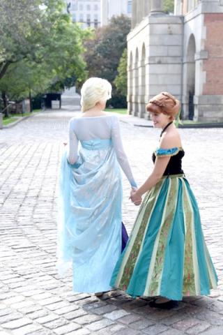Ice Sisters Walking