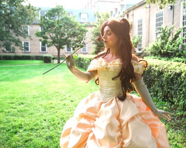 Princess Beauty holding rose